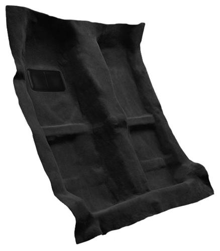 Mustang Floor Carpet for Coupe & Convertible Black (05-09) - Picture of Mustang Floor Carpet for Coupe & Convertible Black (05-09)