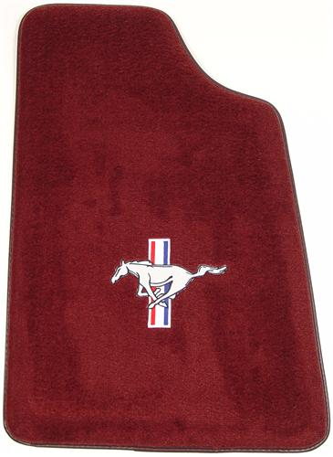 Mustang Canyon Red Floor Mats w/ Pony Logo (84-86)