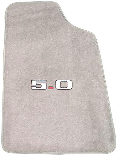 Mustang Light Gray Floor Mats w/ 5.0 Logo (85-86)