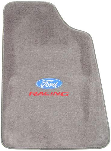 Mustang Opal Gray Floor Mats w/ Ford Racing Logo (93-93) - Picture of Mustang Opal Gray Floor Mats w/ Ford Racing Logo (93-93)