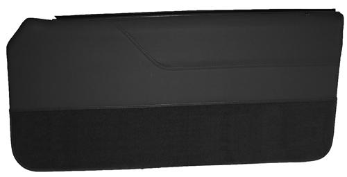 Mustang Lower Door Panel Carpet Black (80-86)