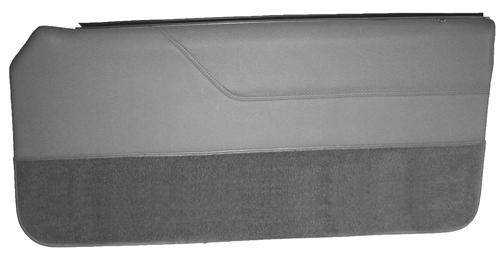 Mustang Lower Door Panel Carpet Light Gray (85-86)