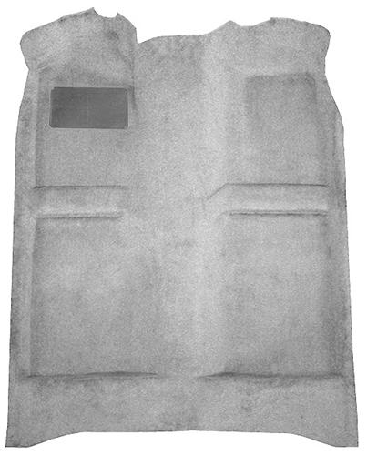 Mustang Floor Carpet Light Gray (85-86) Coupe  Hatchback