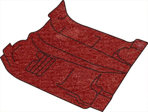 Mustang Floor Carpet for Convertible Canyon Red (84-86)