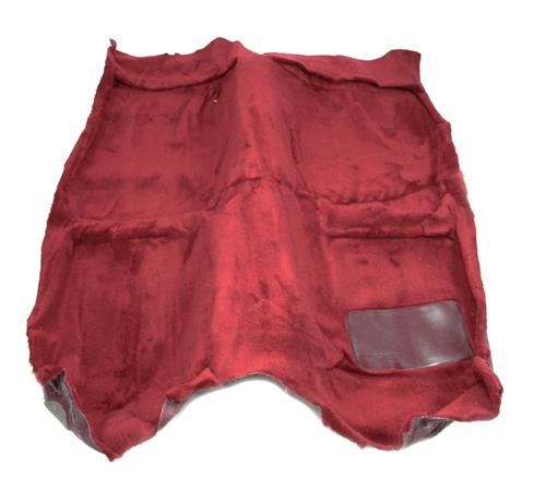 Mustang Floor Carpet for Convertible Canyon Red (84-86) - Picture of Mustang Floor Carpet for Convertible Canyon Red (84-86)
