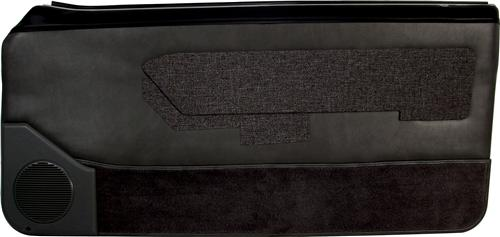 Mustang Lower Door Panel Carpet Black (87-89)