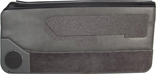 Mustang Lower Door Panel Carpet Smoke Gray (87-89)