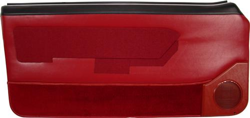 Mustang Lower Door Panel Carpet Scarlet Red (87-89)