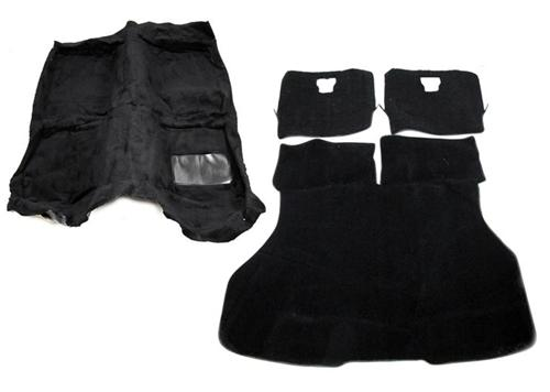 Mustang Floor Carpet & Hatch Carpet Kit Black (87-93) - Picture of Mustang Floor Carpet & Hatch Carpet Kit Black (87-93)