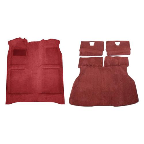 Mustang Floor Carpet & Hatch Carpet Kit Scarlet Red (87-93) - Mustang Floor Carpet & Hatch Carpet Kit Scarlet Red (87-93)