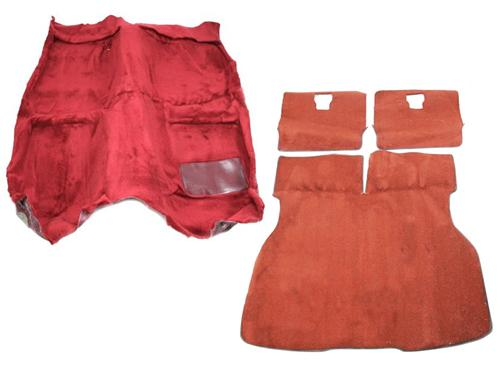 Mustang Floor Carpet & Hatch Carpet Kit Scarlet Red (87-93) - Picture of Mustang Floor Carpet & Hatch Carpet Kit Scarlet Red (87-93)