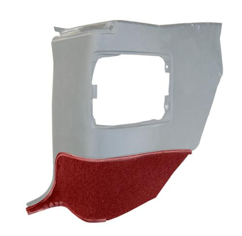 Mustang Quarter Trim Carpet for Convertible Ruby Red (93-93) - Picture of Mustang Quarter Trim Carpet for Convertible Ruby Red (93-93)