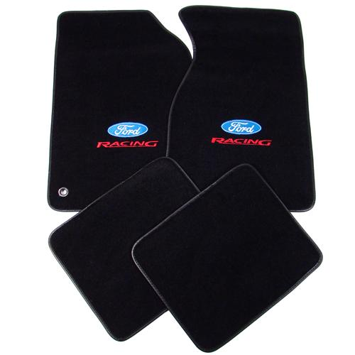 ACC Mustang  Floor Mats with Ford Racing Logo Black  (94-98)