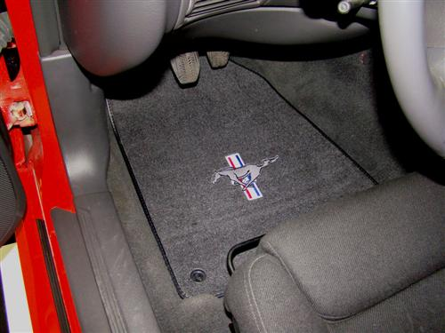 ACC Mustang Floor Mats with Pony Logo Dark Charcoal (99-04)