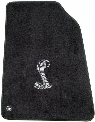 ACC Mustang Floor Mats with Cobra Snake Logo Dark Charcoal (99-04)
