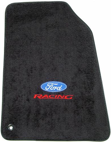 ACC Mustang Floor Mats with Ford Racing Logo Dark Charcoal (99-04)