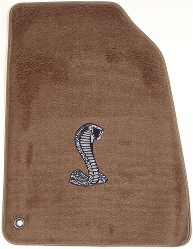 ACC Mustang Floor Mats with Cobra Snake Logo Parchment Tan  (99-04)