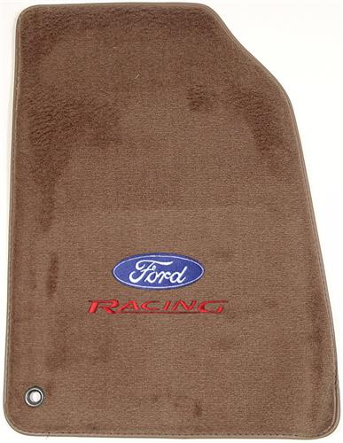 ACC Mustang Floor Mats with Ford Racing Logo Parchment Tan  (99-04)