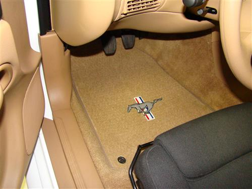 ACC Mustang Floor Mats with Pony Logo Saddle Tan (94-98)
