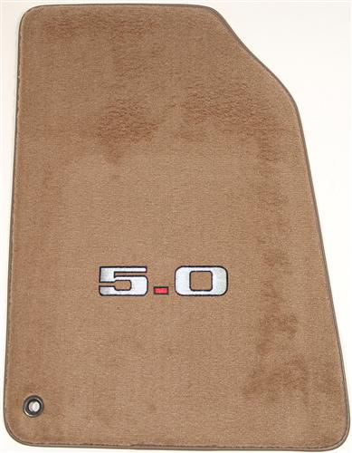 ACC Mustang Floor Mats with 5.0 Logo Saddle Tan (94-98)