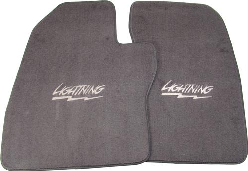 ACC F-150 SVT Lightning Floor Mats with Lightning Logo Dark Gray  (1993)