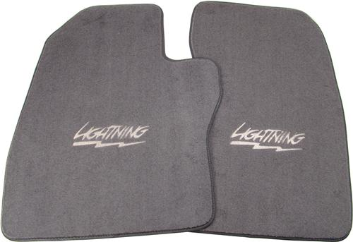 ACC F-150 SVT Lightning Floor Mats with Lightning Logo Opal Gray (94-95)
