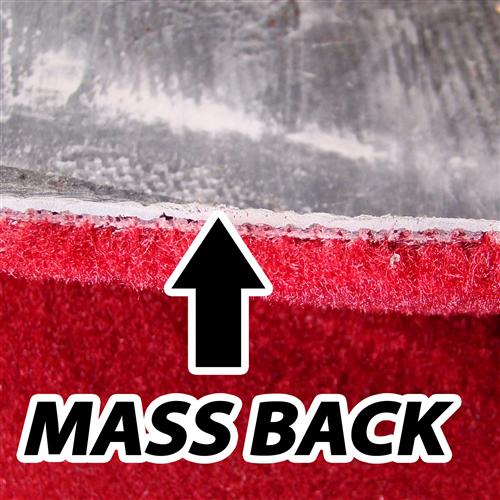 Mustang Mass Back Floor Carpet for Coupe & Hatchback Medium Red/Scarlet Red (82-92)