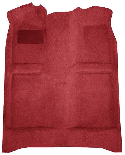 Mustang Floor Carpet w/ Mass Back Medium Red/Scarlet Red (83-92) Convertible