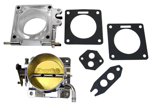 Accufab Mustang 5.0L 75mm Polished Throttle Body with EGR Spacer (86-93)