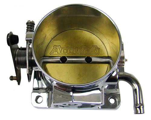 Accufab Mustang 75mm Polished Throttle Body with Solid EGR Spacer (86-93)