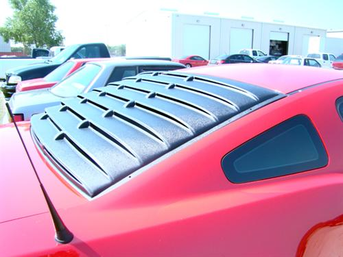 Mustang Rear Window Louvers Textured (05-14)