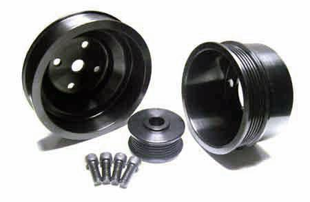 ASP Mustang Black Aluminum Underdrive Pulley Kit (79-93) 820125