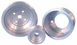 ASP Mustang Satin Aluminum Underdrive Pulley Kit (79-93) 824125