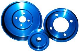 ASP Mustang Blue Aluminum Underdrive Pulley Kit (79-93) 829125