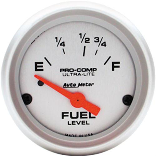 "Gauge, Fuel Level,  2 1/16"", 73-10 Ohms for 79-86 Application, Short Sweep, Pro Comp, Ultra Lite, Electrical  Http://Www.Autometer.Com/Cat_Gaugedetail.Aspx?Gid=3093&Sid=11"