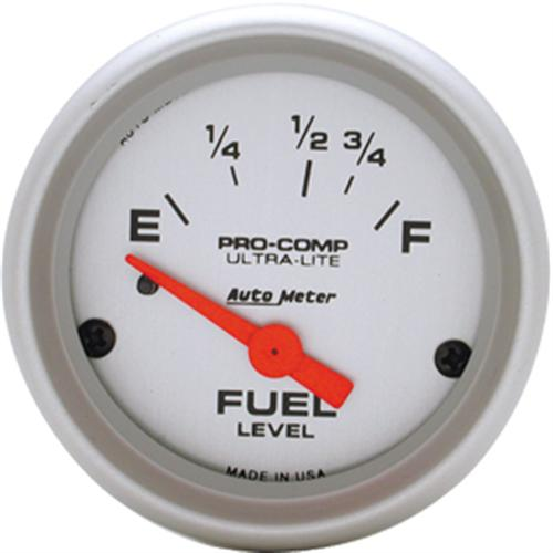 "Gauge, Fuel Level,  2 1/16"", 16-158 Ohms for 87-97 Application, Short Sweep, Pro Comp, Ultra Lite, Electrical  Http://Www.Autometer.Com/Cat_Gaugedetail.Aspx?Gid=3091&Sid=11"