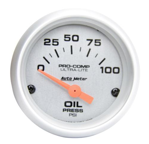 "Auto Meter Ultra Lite Oil Pressure Gauge 2 1/16"" - Picture of Auto Meter Ultra Lite Oil Pressure Gauge 2 1/16"""