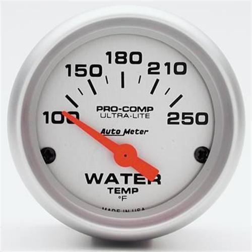 "Autometer  2 1/16"" Ultra Lite Short Sweep Coolant Gauge"