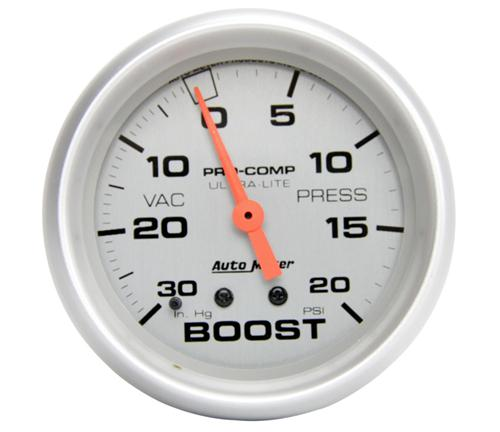"Autometer  2 5/8"" Ultra-Lite 20 PSI Vacuum Boost Gauge  - Picture of Autometer  2 5/8"" Ultra-Lite 20 PSI Vacuum Boost Gauge"