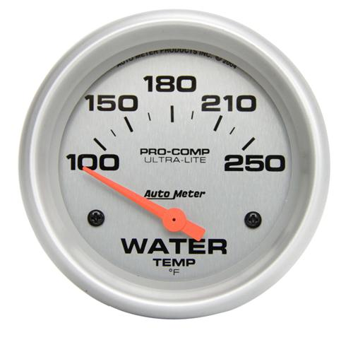 "Autometer  2 5/8"" Ultra Lite Short Sweep Coolant Gauge - Picture of utometer  2 5/8"" Ultra Lite Short Sweep Coolant Gauge"