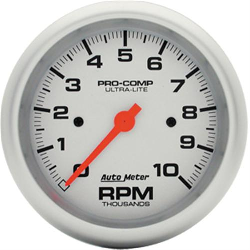 "Gauge, Tachometer,  3 3/8"", Ultra Lite, 10,000 Rpm, Electric - Gauge, Tachometer,  3 3/8"", Ultra Lite, 10,000 Rpm, Electric"