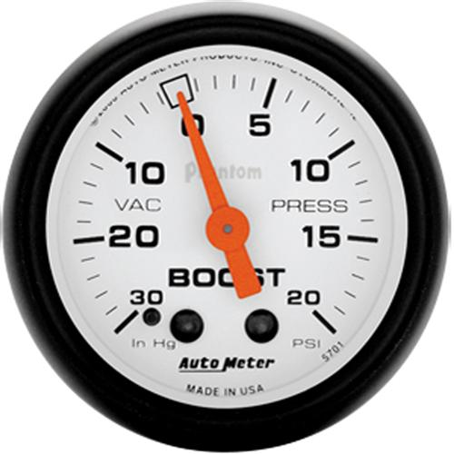 "Autometer  Phantom Vacuum Boost Gauge - 2 1/16""  - Autometer  Phantom Vacuum Boost Gauge - 2 1/16"""