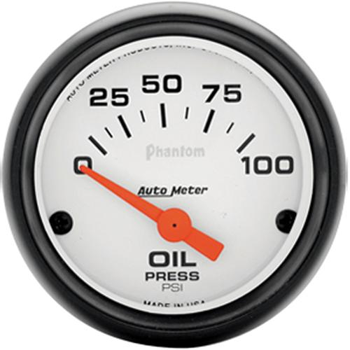 "Autometer  Phantom Oil Pressure Gauge - 2 1/16""  - Autometer  Phantom Oil Pressure Gauge - 2 1/16"""
