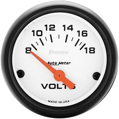 Autometer  Phantom Voltmeter Gauge - 2 1/16""