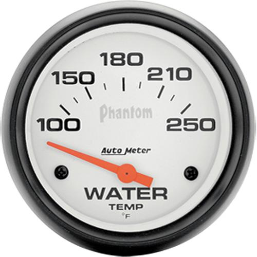 "Autometer  Phantom Coolant Temp Gauge - 2 5/8""  - Autometer  Phantom Coolant Temp Gauge - 2 5/8"""