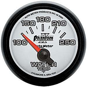 "Auto Meter Phantom II Water Temp Gauge 2 1/16"" 7537"