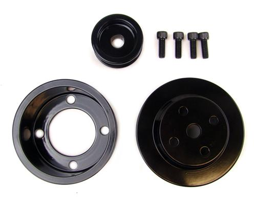 BBK Mustang 5.0L Black Steel Underdrive Pulley Kit (79-93) 1513