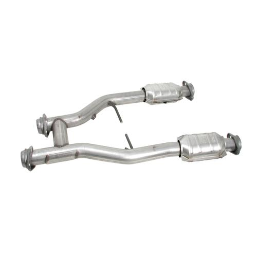"BBK  Mustang 2.5"" Catted H-Pipe for Longtube Headers (96-04) GT-Cobra"