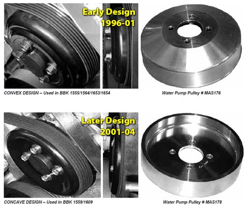 BBK  Mustang Underdrive Pulleys (96-Mid 01 GT; 96-99 Cobra)