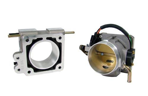 BBK Mustang 75mm Throttle Body w/ EGR Spacer Satin  (86-93) 5.0L 7 1600